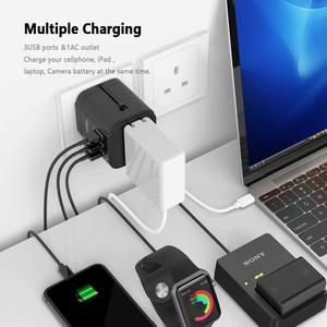 Image 5 - Tessan Du Lịch Đa Năng Điện Quốc Tế Cắm Sạc 3 Cổng USB Cho US/EU/AU/Vương Quốc Anh/FR/Ý Ổ Cắm Điện Cắm