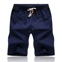 Новинка, летние повседневные мужские шорты из хлопка, модные стильные мужские шорты, пляжные шорты Бермуды, 7 цветов, шорты размера плюс M-5xl, шорты для мужчин