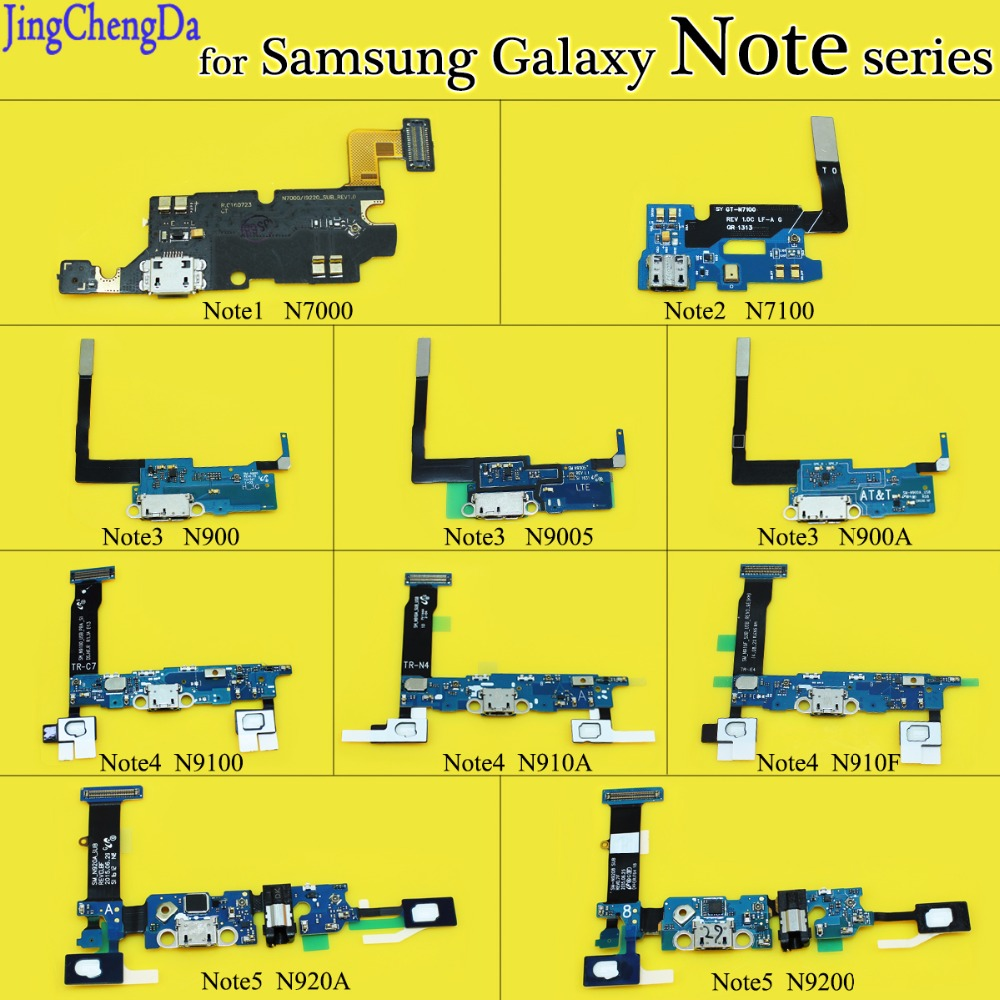 JCD New USB Connector Charging Port Flex Cable For Samsung Galaxy Note 1 2 3 4 5 N7100 N7000 Micro Usb Port Flex Parts