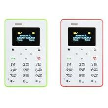 Russian Keyboard AEKU M5 Card Cell Phone 4.5mm Ultra Thin Pocket Mini Phone Quad Band Low Radiation