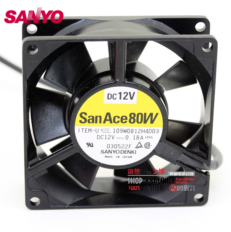 SANYO New Waterproof 109W0812H4D03 12V 0.18A 8025 8cm fan 80*80*25mm sanyo new fv28025hba 8025 220v 0 15a ac condenser fan with fan for wonsan 80 80 25mm