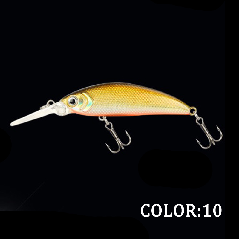 1pcs Long Lip Mi Minnow Fishing Lure 5cm 5g Aritificial Wobblers Crankbait Hard Bait Plastic Bait Pesca isca in Fishing Lures from Sports Entertainment