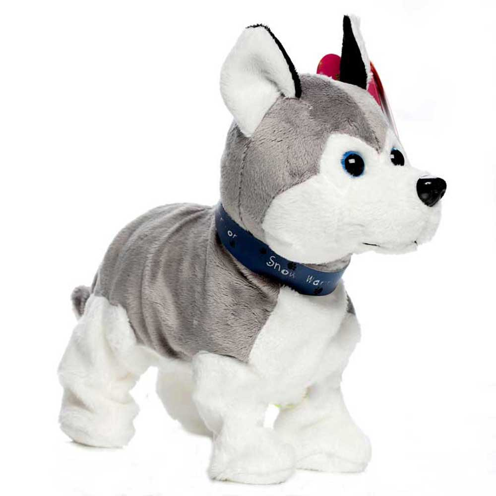 Robot Dog Electronic Dog Interactive Toy Sound Control Puppy Pet Walk Bark Kids Gift Plush Husky Pet Toys For Children