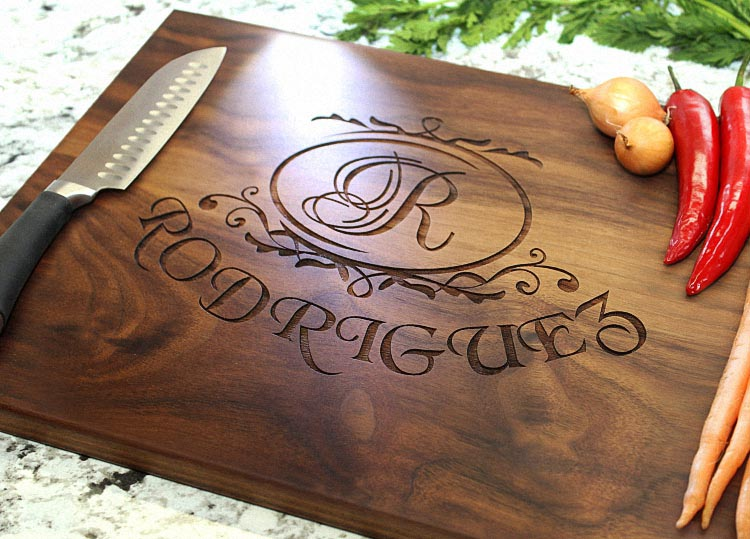 Buy personalized wedding party favors and gifts custom engraved wooden cheese - Engraved wooden chopping boards ...