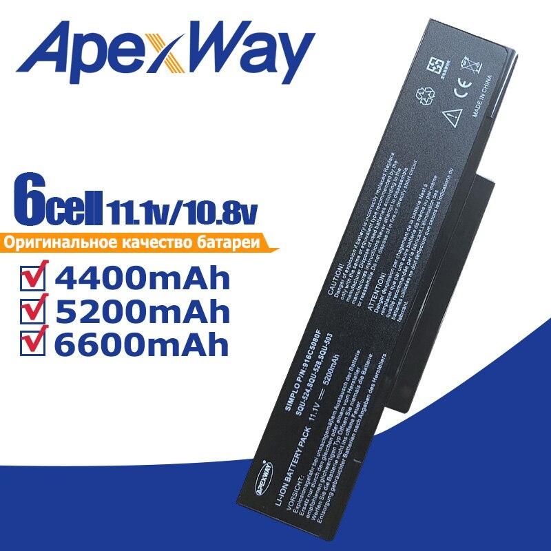 Blcak Laptop Battery For Aaus E500 EB500 ED500 M740BAT-6 M660BAT-6 M660NBAT-6 SQU-524 SQU-528 SQU-529 SQU-718 BTY-M66 BTY-M68