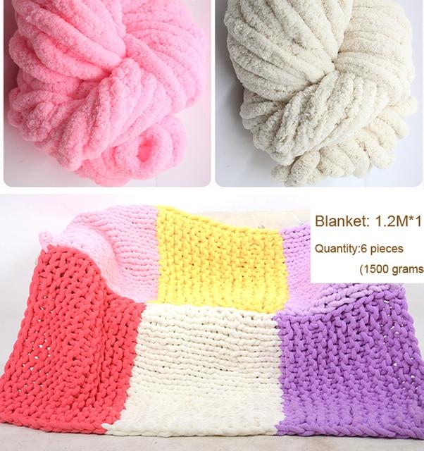 500 Gram Cheap Super Thick Yarn For Knitting Bulky Yarn For Hand