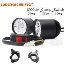 LDDCZENGHUITEC 30W 6000LM 40X USA U3 Chip LED Universal Motorcycle Fog Light Auxiliary Lamp Motorbike Headlight Truck Spot