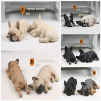 Mr Z Real Animal Series No 9 2PCS SET 1 6 Scale French Bulldog Sleep Mode