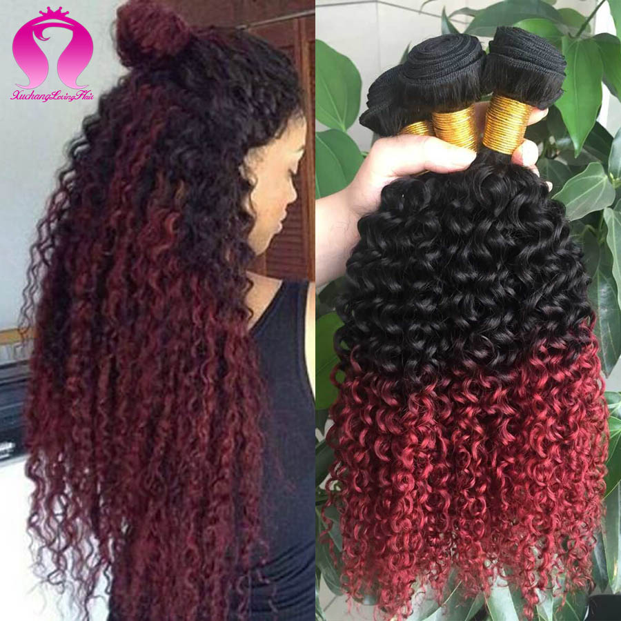 Red Curly Brazilian Weave Remy Indian Hair