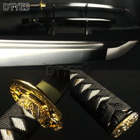 Japanese Samurai Sword T10 Carbon Steel Full Tang Bo Hi Shinogi Zukuri Mirror Blade Sharp Battle