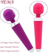 YEMA Powerful AV Magic Wand Vibrator Sex Toys for Woman Adult Erotic Toys 10 Modes Fiddle Vagina Clitoris Stimulator Sex Machine