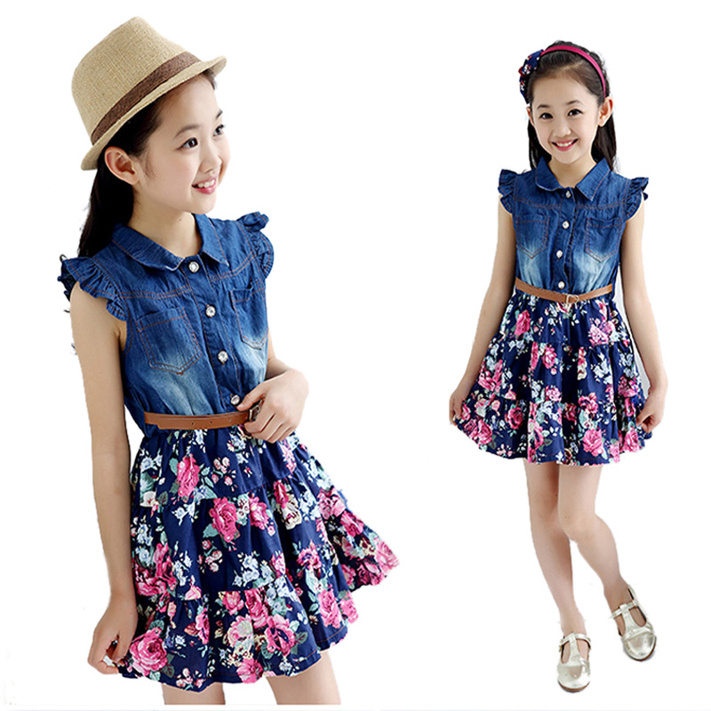 Aliexpress.com : Buy 2017 Summer Teenage Girl Dress Denim ...