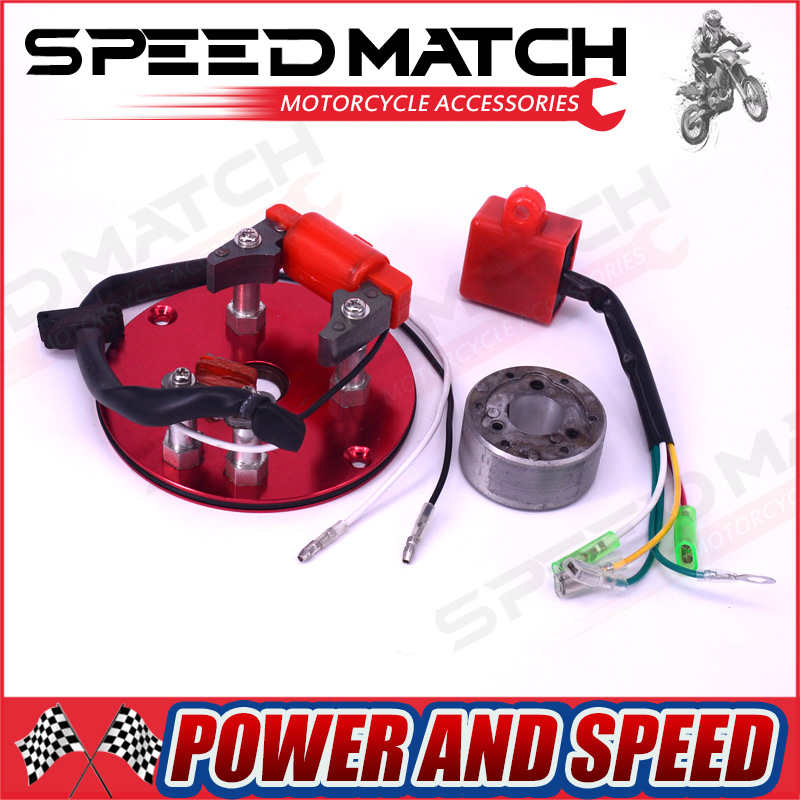 Racing tator Magneto Racing Rotor interno CDI Kit Rojo Para 110 125 140cc Lifan YX Pit Dirt Bike NUEVO