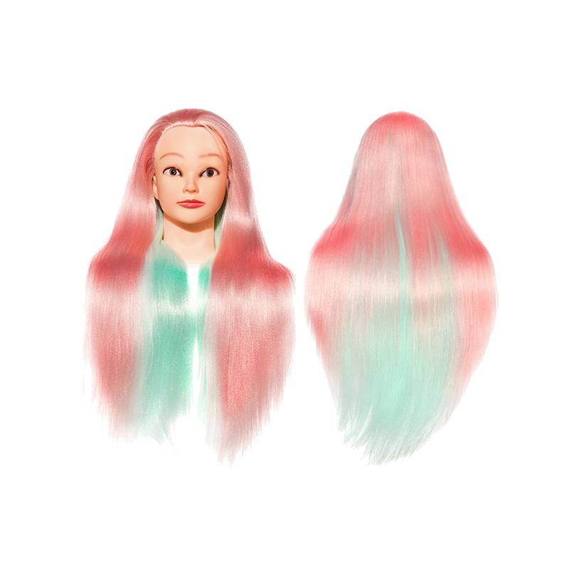 24inch Hair Training Head Colorful Hair Mannequin Hairdressing Doll Heads for Professional Style Salon Use in Mannequins from Home Garden
