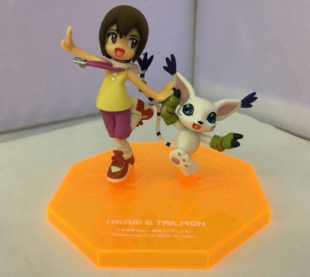 Digimon Adventure Figure Tailm Figure War Greymon Wizarmon Babumon Kabuterimon Yagami Hikari Figure Custom Collection Box