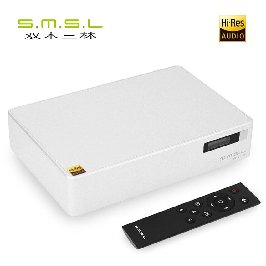 SMSL SU-8 ES9038Q2M * 2 32bit/768 kHz DSD512 DAC USB/Optique/Coaxial Décodeur RCA/XLR sortie Viennent avec Télécommande