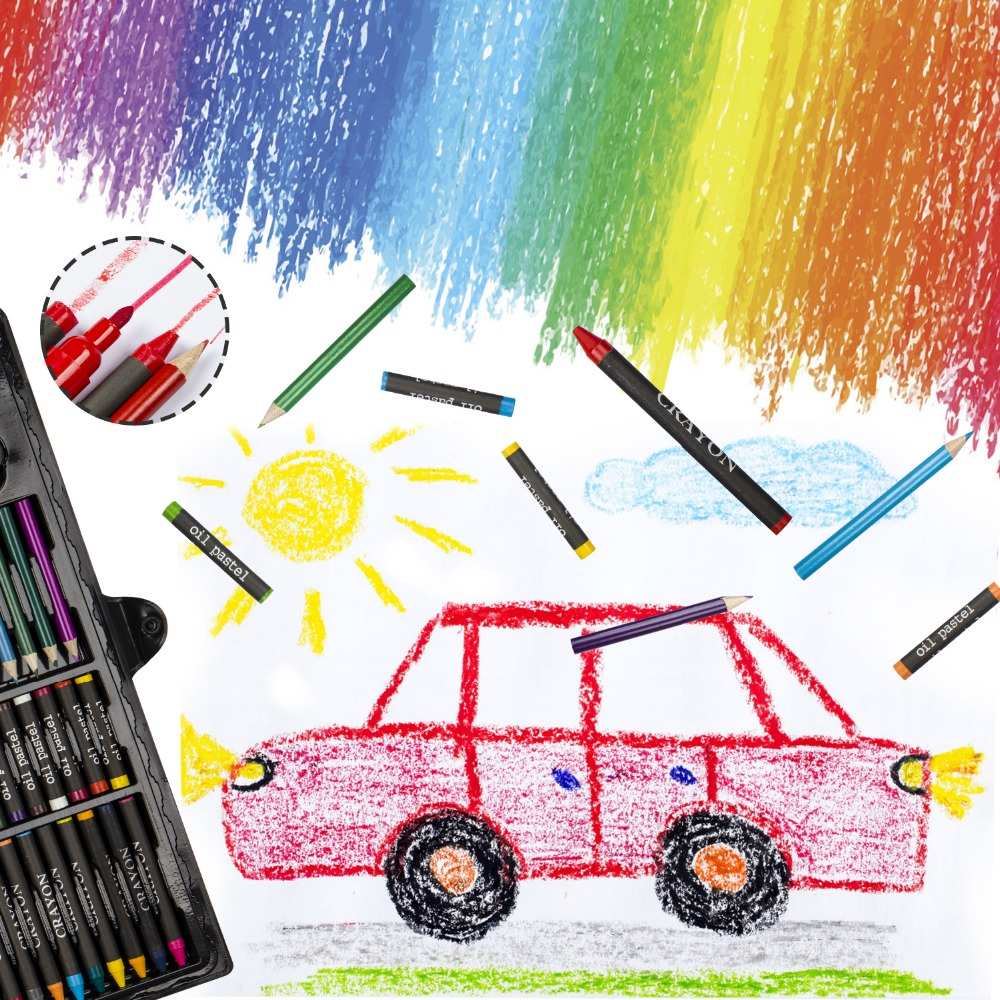 Crayon Set,Coloring Pencils , Portable Painting,Art Supplies Toys, Gifts for Kids,Crayon,Colored Pencils for Kids