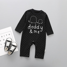 Cute fashion bodysuit baby clothes mummy&me cotton short sleeve newborn clothes daddy&me baby jumpsuit baby clothing mummy and me