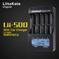 Original liitokala lii-500 smart 3.7 v 4 ranura del cargador de batería con el coche sc adaptador de un aa aaa 10440 14500 17670 18650 26650 etc