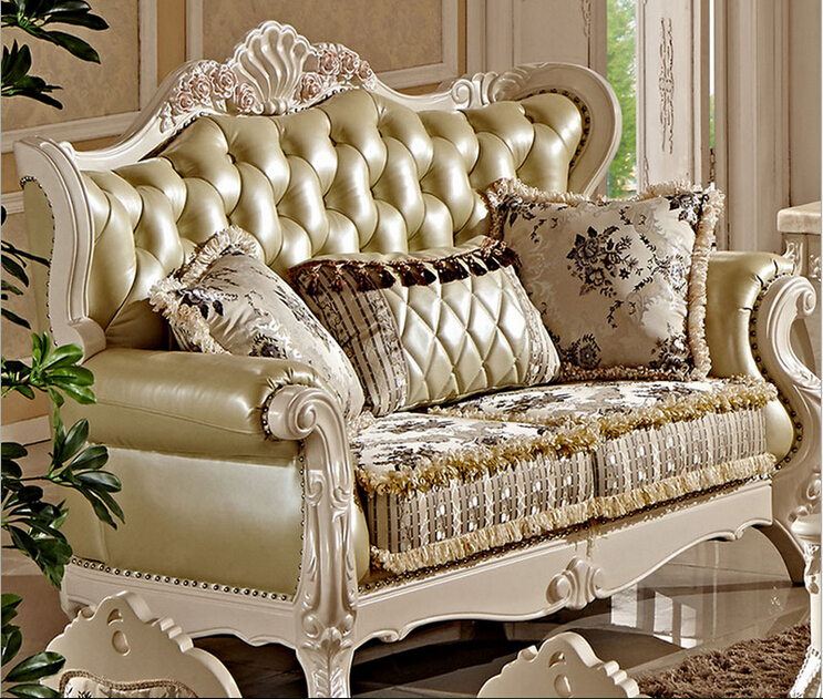 Antique Wooden Sofa ~ Villa antique sofa set designs fc in living room sofas