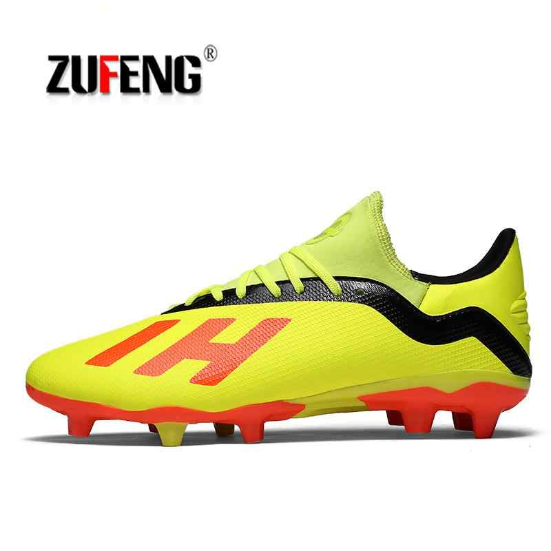 f83d09a35 ZUFENG Professional AG TF Football Shoes Unisex Sports Shoes Outdoor Gym Soccer  Shoes Cleats Lightweight