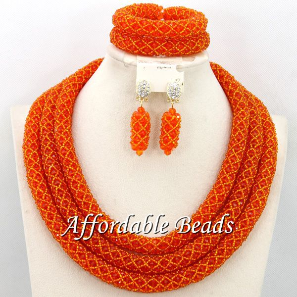 Wholesale African Costume Jewelry Set Hot Sale Wedding Jewelry Set Handmade Item Free Shipping BN281 luxury african dubai jewelry sets hot wedding beads set handmade item wholesale free shipping ncd022