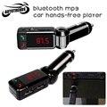 Car kit bluetooth transmissor fm car mp3 player modulador fm sem fio de áudio display lcd carregador dual usb para iphone samsung