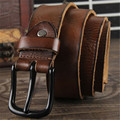 2017 Belts men Cowhide Genuine Leather brand Strap male pin buckle fancy vintage jeans strap male cintos Designers high quality