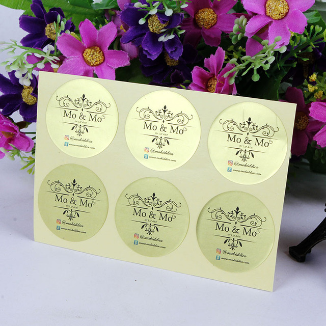 1000 pcs custom personalised matt gold sticker 3cm birthday baby shower wedding invitation envelope sticker seals