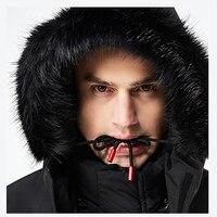 Новая зимняя куртка Мужская парка 30 градусов меховой воротник с капюшоном стеганая ватная ветровка теплое Мужское пальто парки Пальто 8F21E