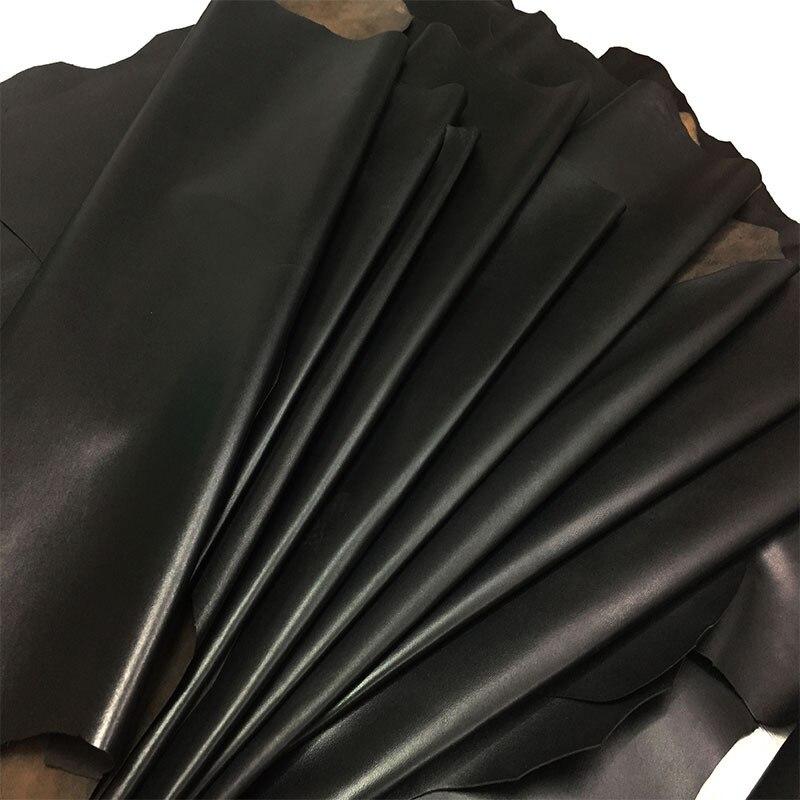 Junetree A grade épais en cuir véritable chèvre noir en cuir véritable qualité peau de mouton souple en cuir entier pour gants vêtements