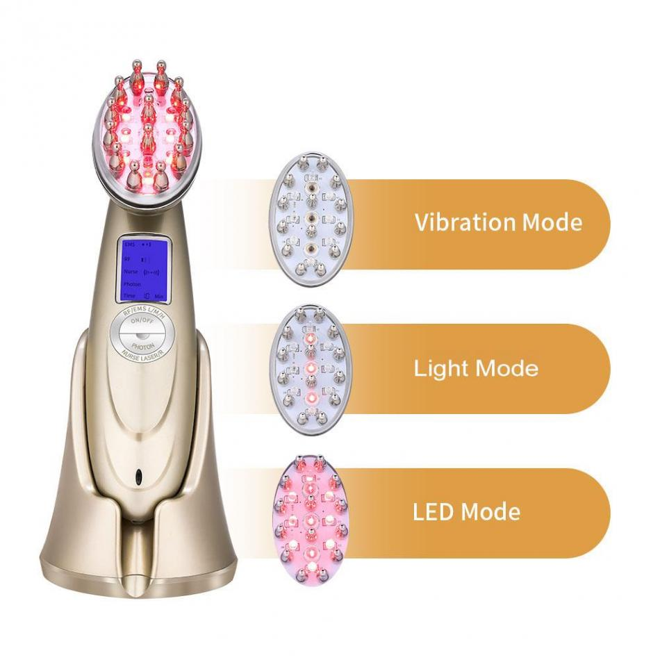 Electric Laser Red Light Hair Nourishing Growth Comb Vibrating Head Massager Hairbrush Anti Hair Loss Hair Growth Treatment 0 5w vibrating nose electric massager purplish red 1 x cr2032