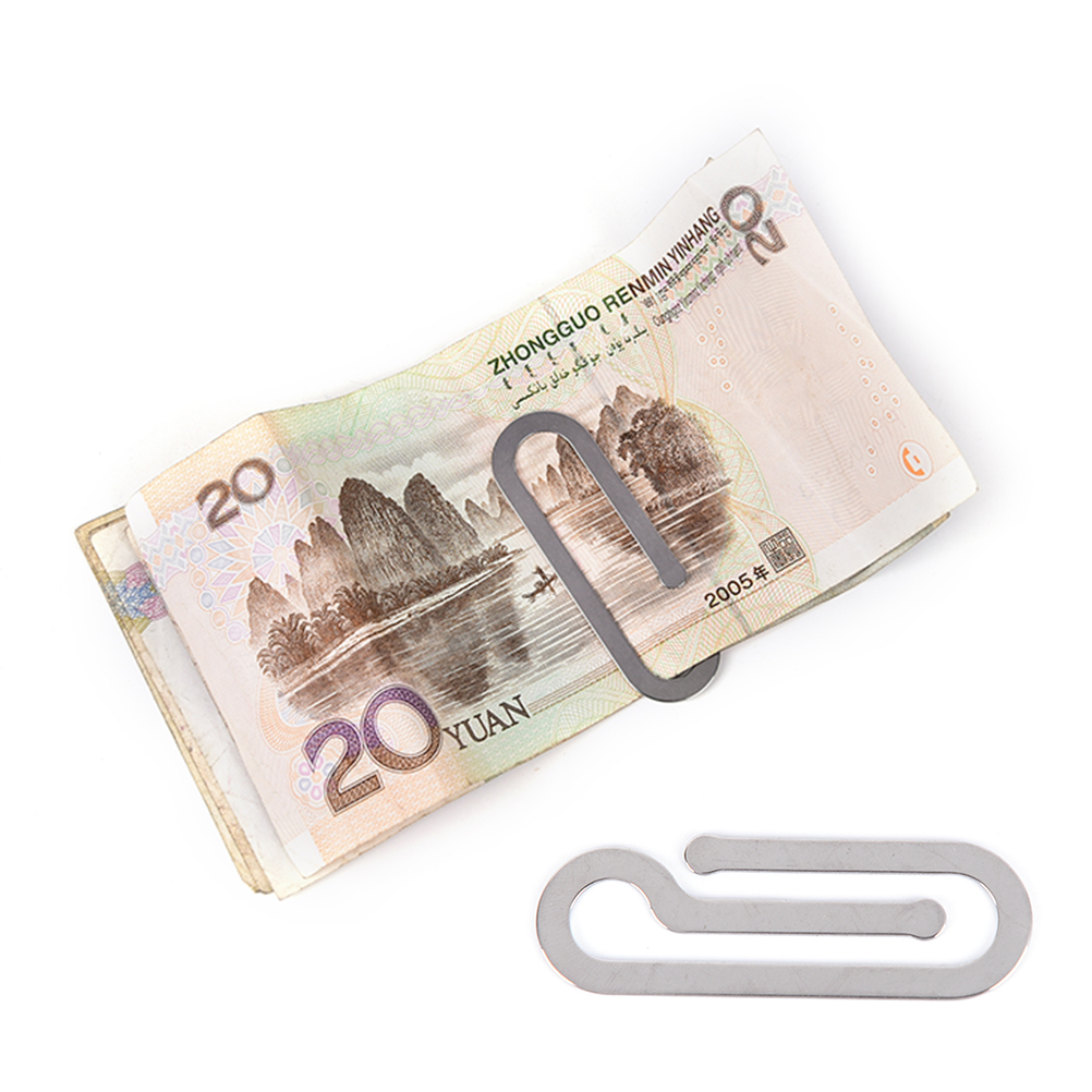 1 Pcs Edelstahl Metall Ordner Kreditkarte Portfolio Geld Halter Silber Clip Multi-funktion Männer Geld Clip Papier Clip Halter