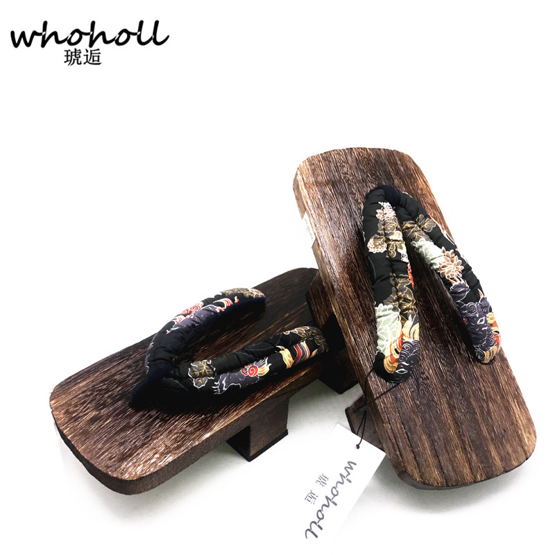 WHOHOLL Plus Size 34 47 Anime Cosplay Shoes Japanese Geta Man Women Wooden Sandals Summer Flip flops Two tooth Japanese Shoes in Shoes from Novelty Special Use
