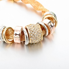 Austrian Crystal Gold Color Chain Bracelet (2 colors)