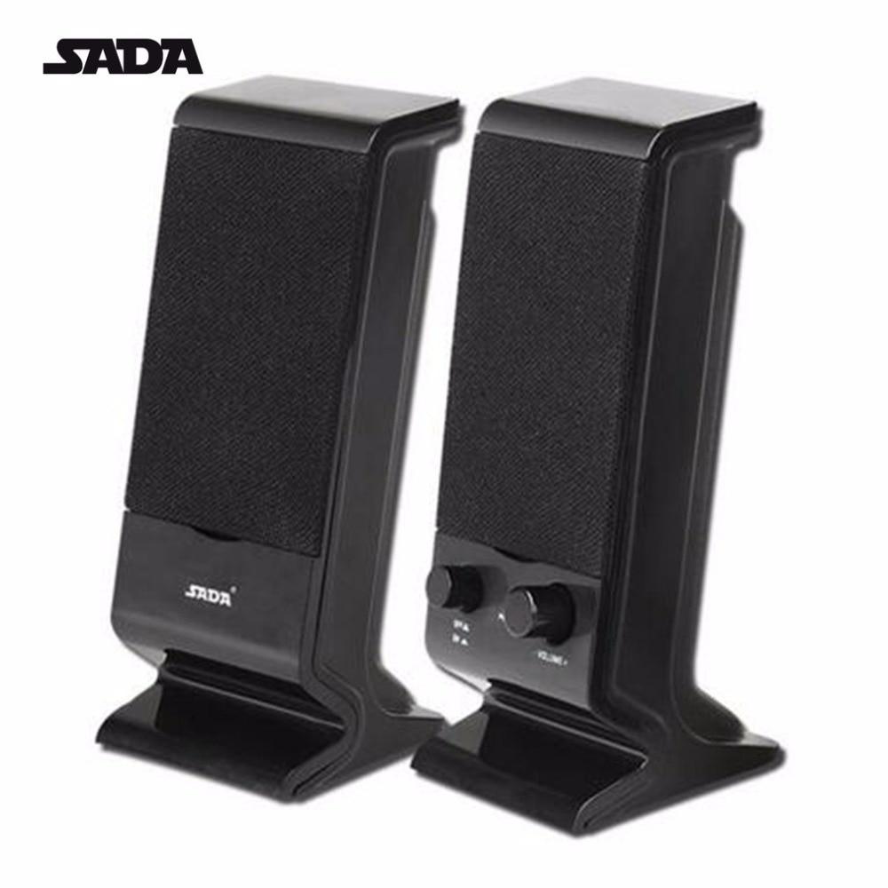 SADA Portable Stereo Bass USB Combination Computer Speaker Mini Subwoofer For Laptop Notebook Desktop Loudspeaker