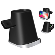 3 in 1 Wireless Charging Holder Stand Magnetic Phone Charger For AirPods Apple iWatch Xiaomi Desk Charge Dock