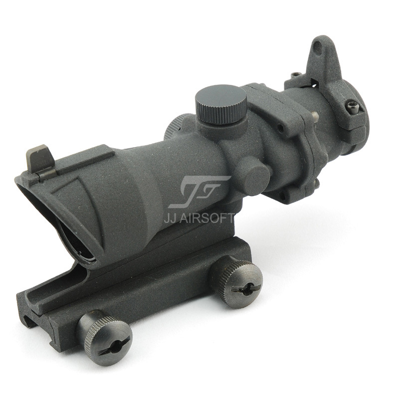 JJ Airsoft ACOG Style 4x32 Scope (Electrostatic Spraying) (Black) FREE SHIPPING jj airsoft acog style 4x32 scope with docter mini red dot light sensor black free shipping