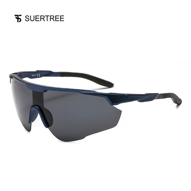 SUERTREE Sport Polarized Sunglasses Men Outdoor Mountain Fishing Sun Glasses MTB Driving Eyewear UV400 JH6003