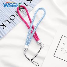 Mobile Phone Lanyard for Samsung iPhone Short Hand Wristband Anti-slip Cord Rope Strap cell phone Key