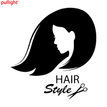 Classic Creative Hair Girl Stylist Beauty Tanning Salon Car Truck Window Vinyl Decal Sticker