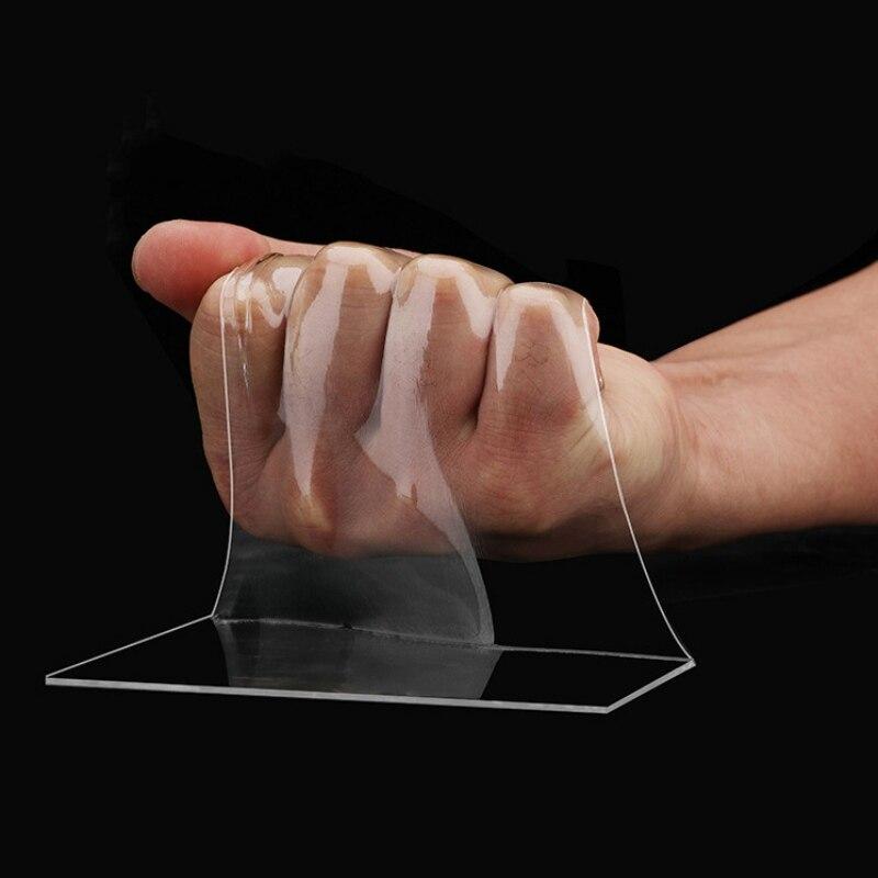 1/5 м двусторонний скотч нано прозрачный без следа акриловая лента-липучка «Magic Tape» повторное использование Водонепроницаемый контакте с кл...