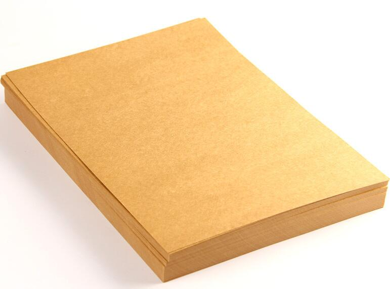300gsm A3 Size Paper Card Thick 350gsm Blank Kraft Paper Brown