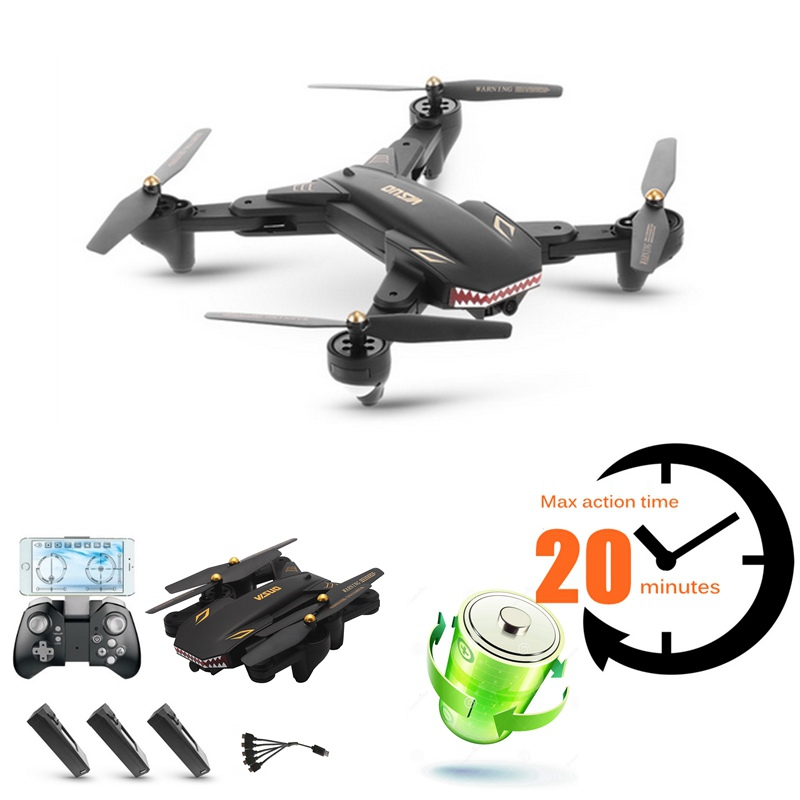 Longtemps Voler en Caméra Drones Avec Caméra Fpv Quadricoptères Télécommande Jouets Rc Hélicoptère Vs Visuo Xs809w Xs8090hw Dron Drone