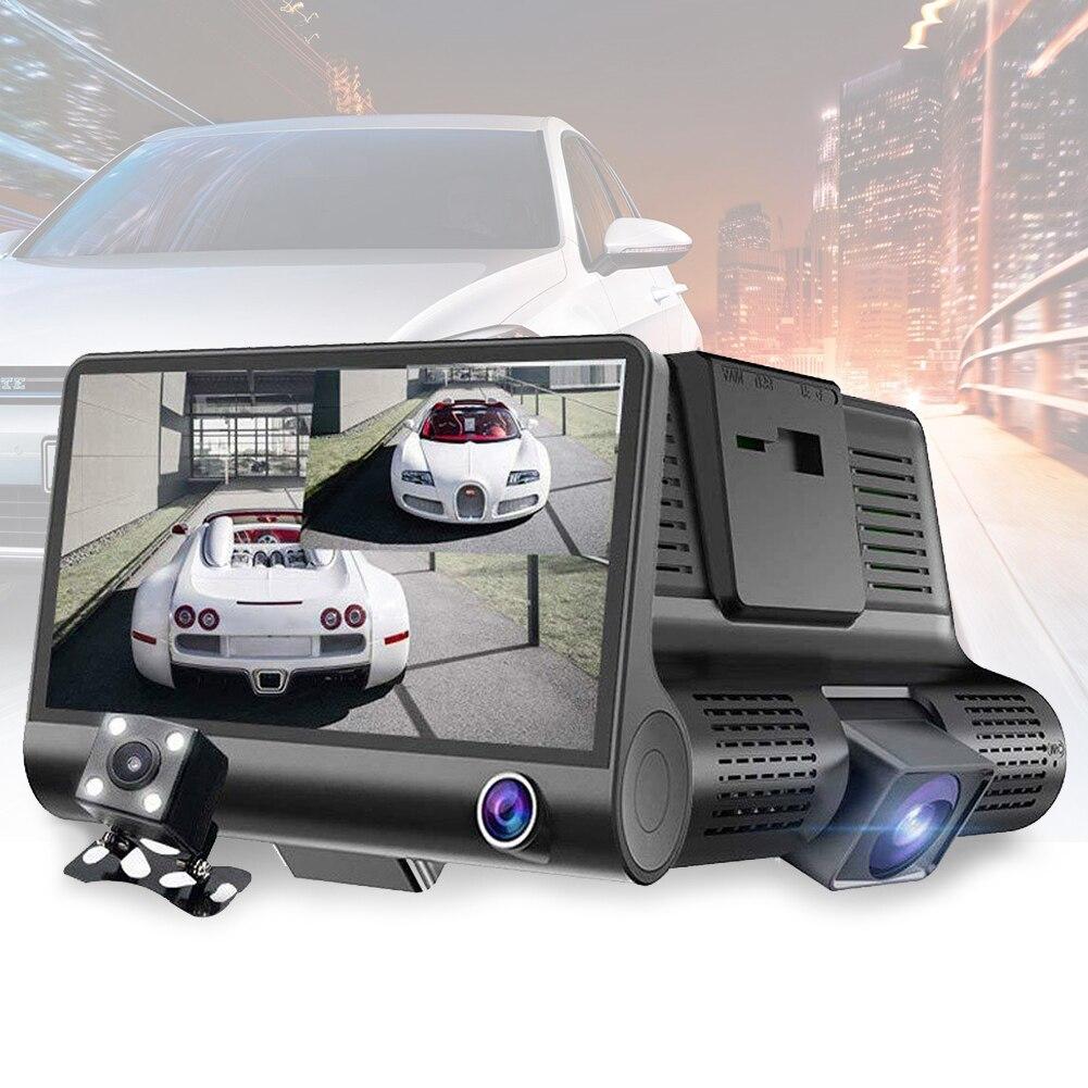 Cam-Camera Car-Dvr Vehicle Rear-View Night-Vision Dash 1080P LCD 4inch HD Three-Lens