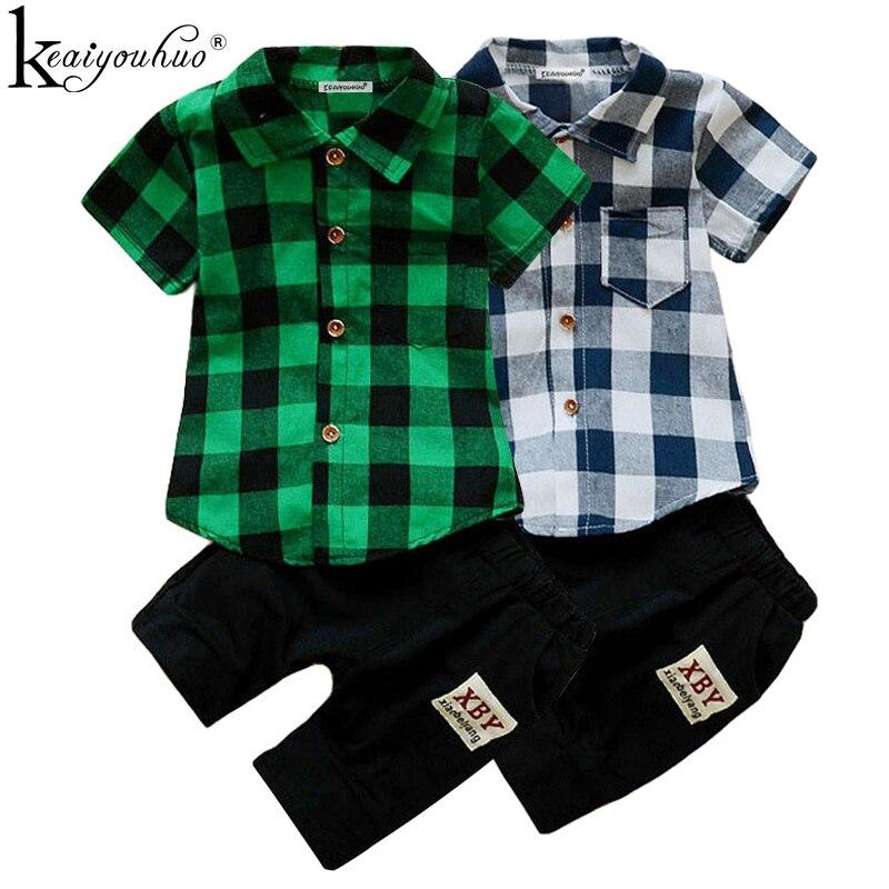 2018 летние Комплекты одежды для маленьких мальчиков короткий рукав спортивный костюм дети Костюмы комплекты для мальчиков хлопковая одежда костюм Одежда для детей