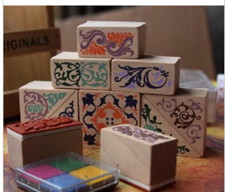 Rectangular Vintage Lace Stamp (10 Installed) To Send Two Four-color Inks cap eu to send carp