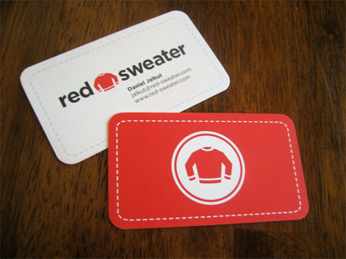 Hot Sale Stylish Design Round Corner Custom Business Cards Printing Red Sweater Logo 350gsm 9054mm Carte De Visite Free Freight