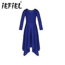 IEFiEL niñas niño dobladillo Irregular flojo vestido gimnasia Leotard  Ballet vestido para la celebración de espíritu 4e0700b4aa5