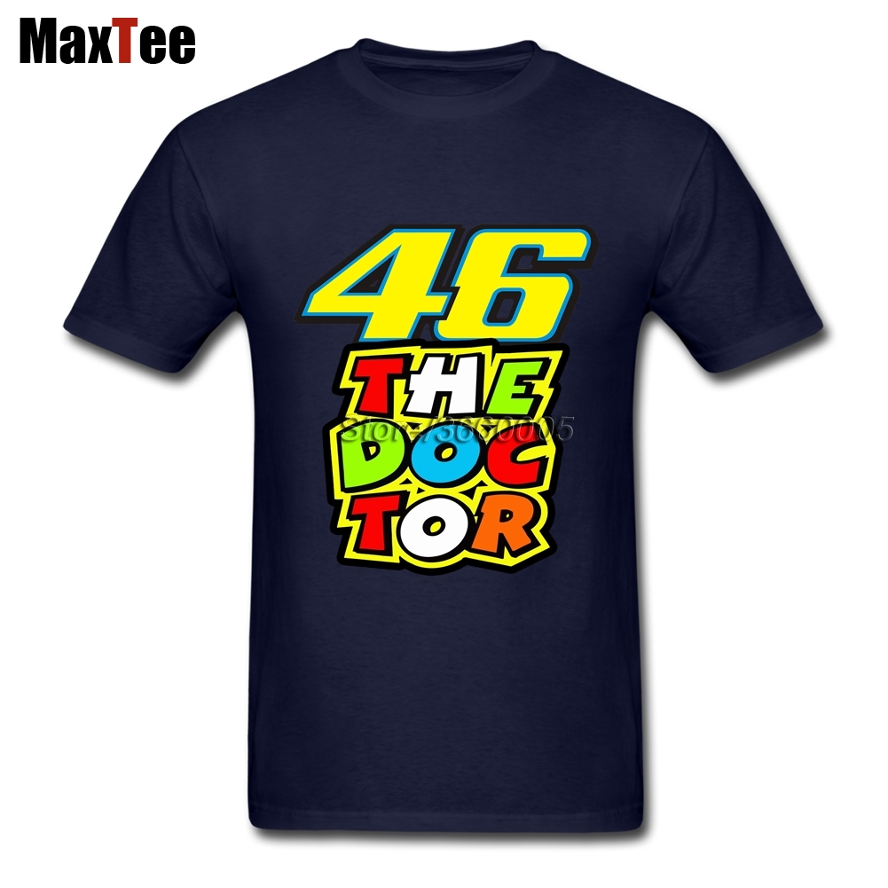 Factory Wholesale The doctor Rossi VR46 Tees Shirt Mens Tees Shirt Large Size Pure Cotto ...